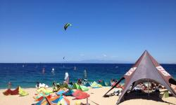 Windsurf assistant in Sardinia, Italy at Blue Zone Sardinia