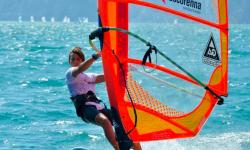 Windsurfing instructors and assistants at Vasco Renna Windsurf Centre