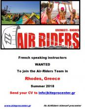 French speaking kite instructor at Rhodos Air Riders Kite Pro Center