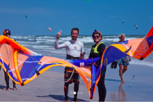 Qualified managers for kiteboarding school at Kiteboarding Asia Thailand