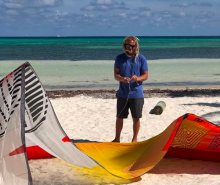 Winter kite instructors at Other Side boardsports